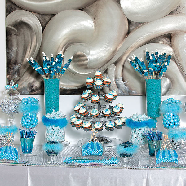 How to create a sweet and stunning candy buffet bridalguide blue candy buffet watchthetrailerfo