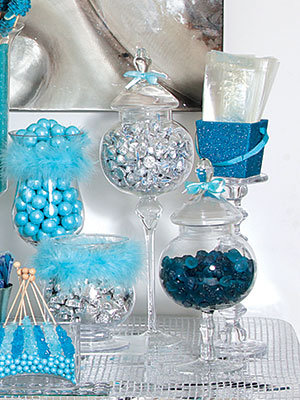 How to create a sweet and stunning candy buffet bridalguide blue candy buffet blue candy buffet watchthetrailerfo