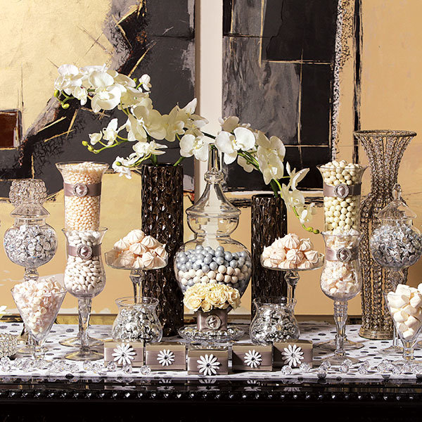 Gold And White Wedding Ideas: How To Create A Sweet (and Stunning!) Candy Buffet BridalGuide