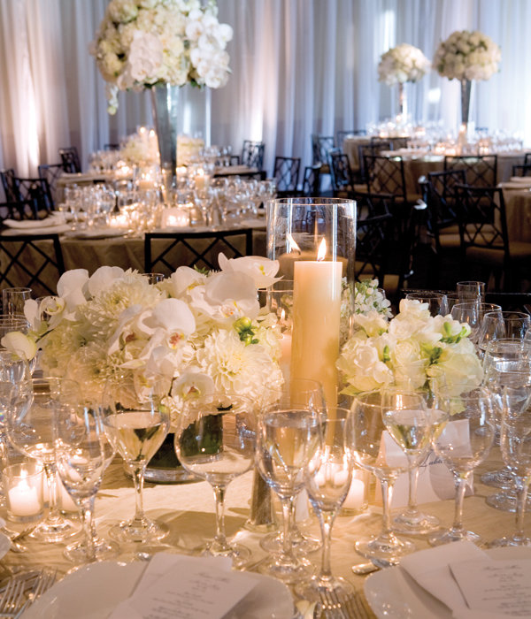 Simple Romantic Wedding Ideas: Dazzling Reception Décor