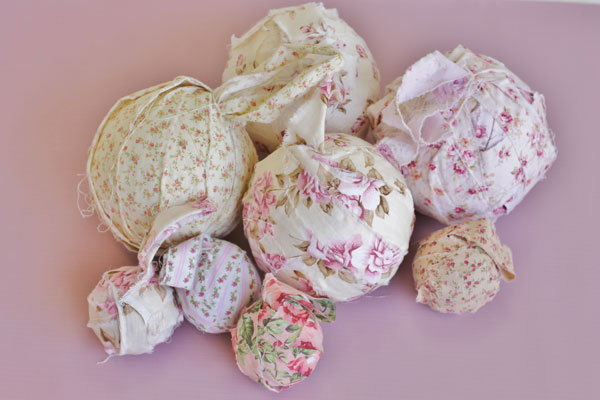diy rustic wedding rag balls