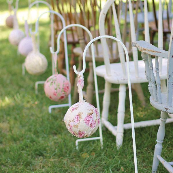diy rustic wedding rag balls