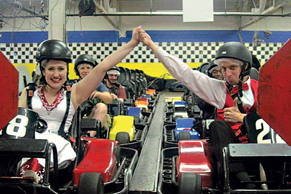 wedding go karts