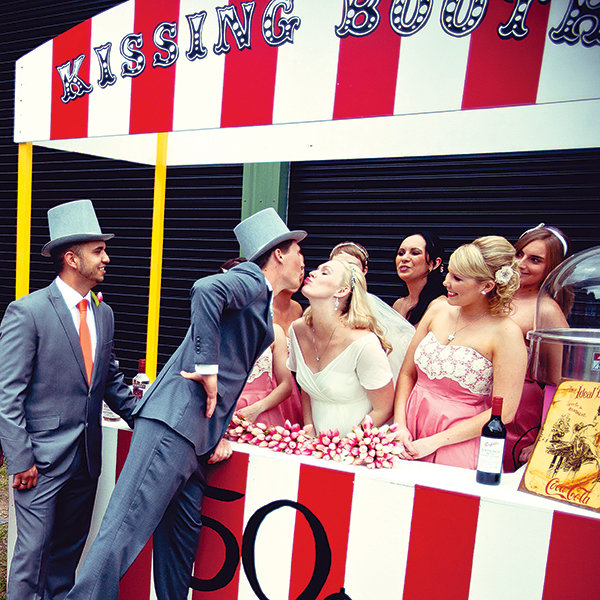 wedding kissing booth