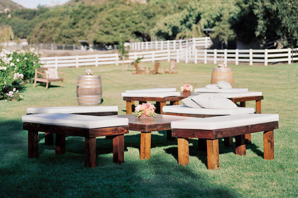 outdoor lounge at wedding