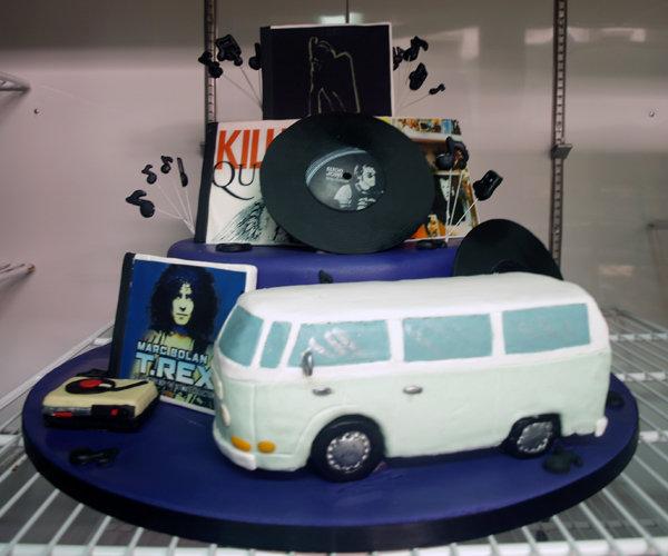 music theme grooms cake