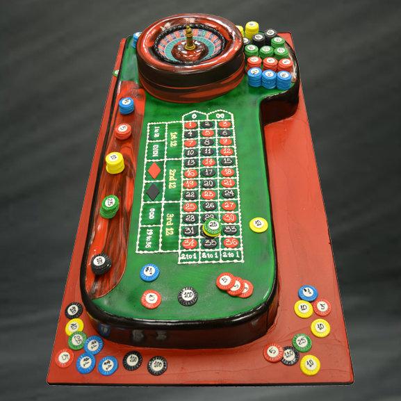 casino grooms cake