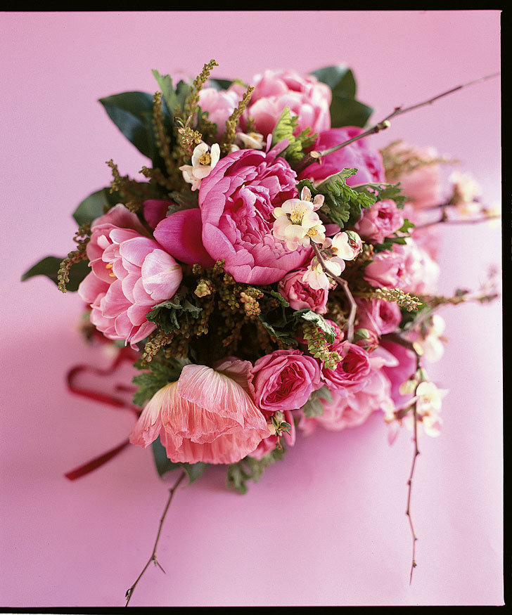 To Have And To Hold A Bridal Bouquet Of Peonies Andromeda Quince