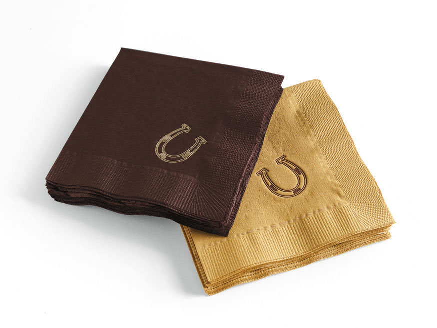 horseshoe cocktail napkins