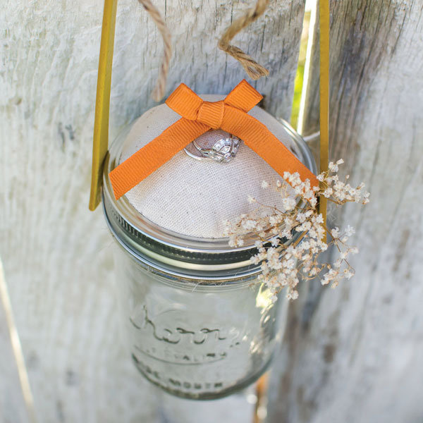 diy mason jar ring bearer pillow