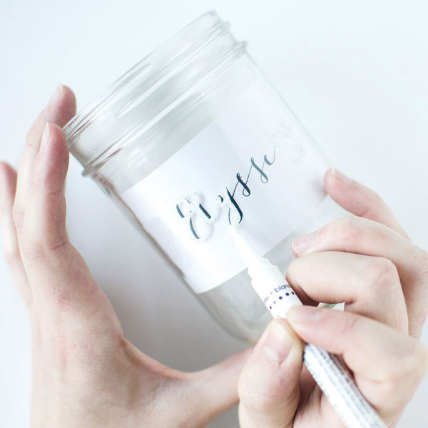 mason jar calligraphy drink jars