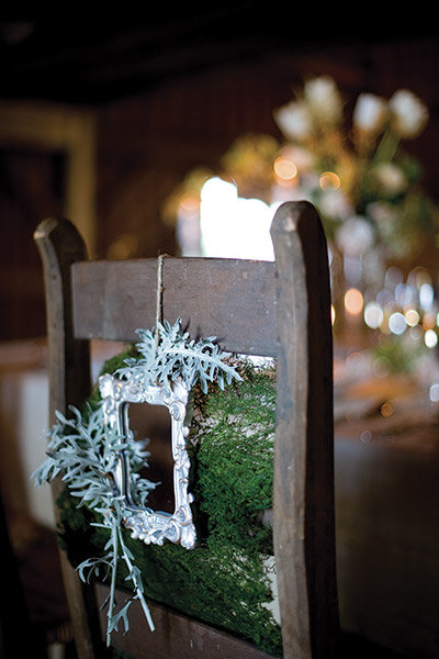 rustic chair decoration
