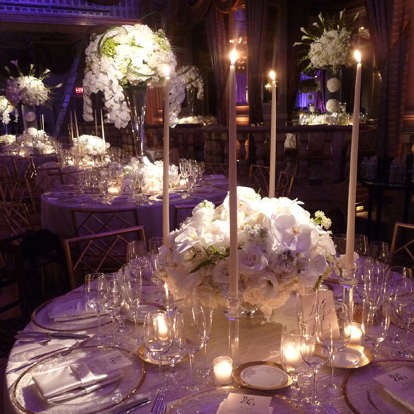 planning wedding reception gorgeous tall centerpieces