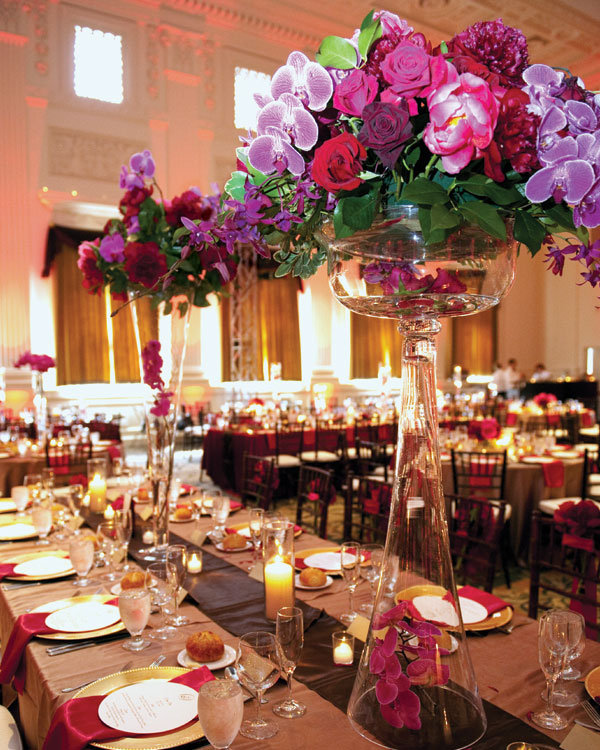tall centerpieces wedding Types of Flowers Black Magic roses