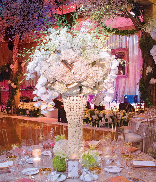 Tall wedding center pieces