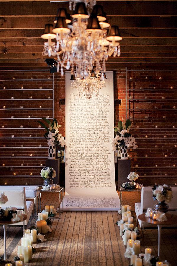 romantic wedding ceremony aisle runner