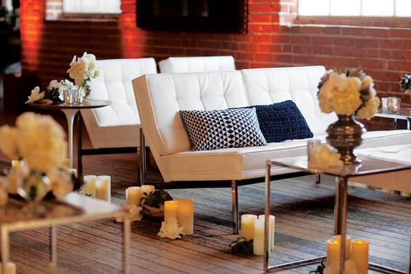 city loft wedding decor