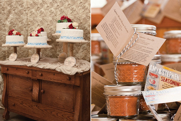 vintage cake and favors