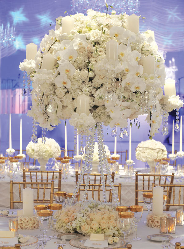 on white tent dreamed up by event designer preston bailey