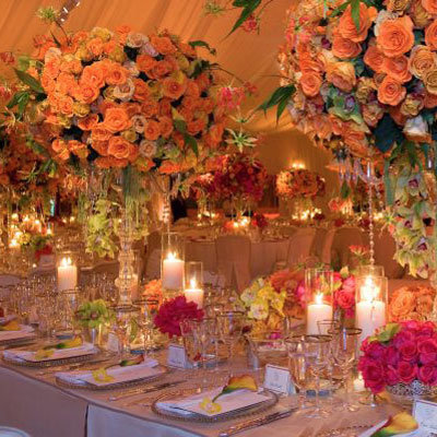 planning wedding reception ideas color