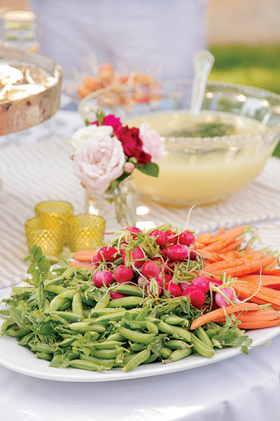 wedding vegetable spread