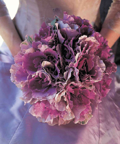 a bouquet made entirely of ornamental kale