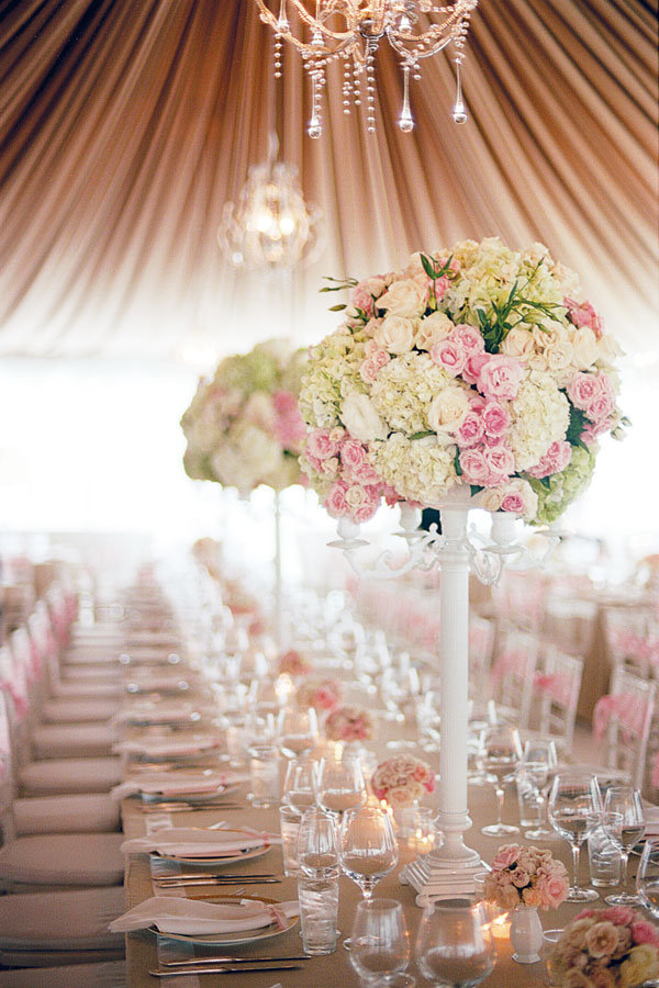 Pink Centerpieces For Wedding Receptions