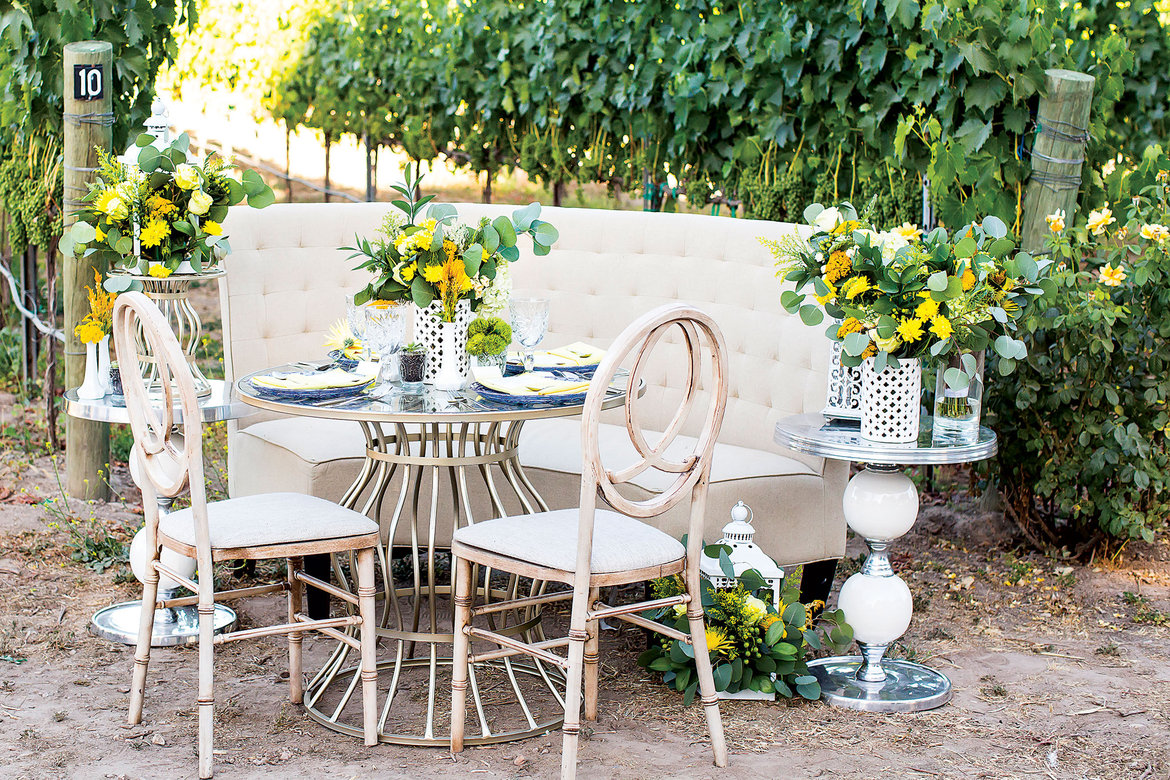 sunny yellow wedding inspiration