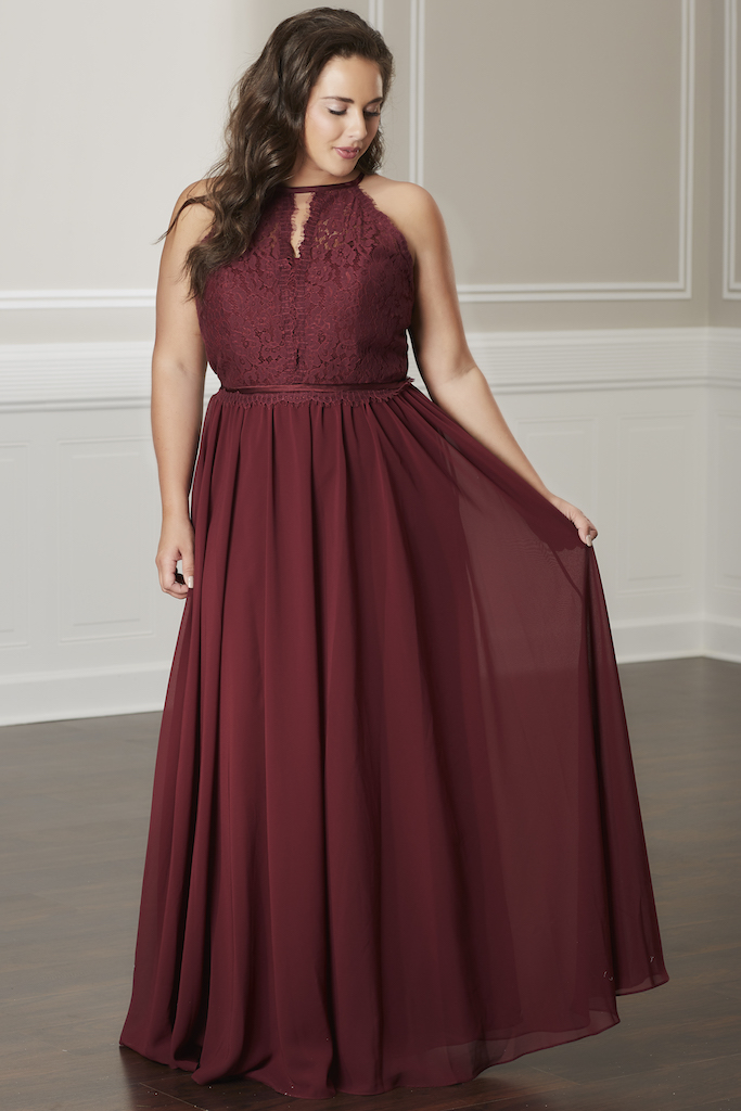 Plus Size Wine Colored Dress - Dress Foto and Picture