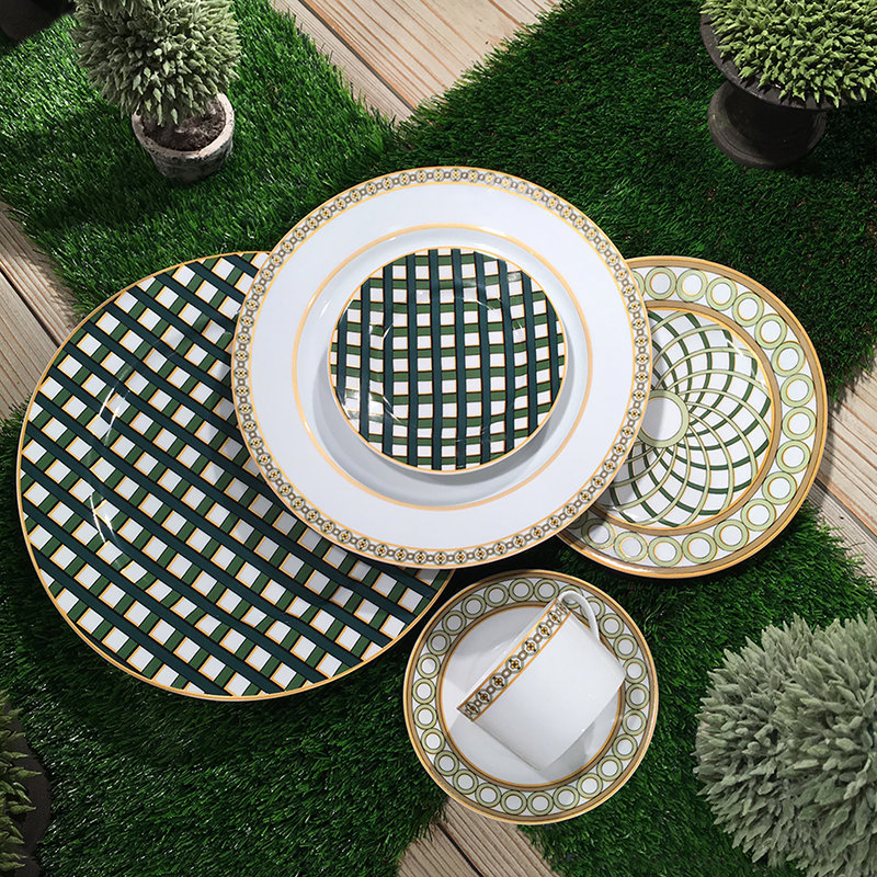 Each piece in the collection draws from a different aspect of treillage from a simple trellis pattern to the more complex designs often found as a focal ... & Elegant Tableware from Royal Limoges BridalGuide
