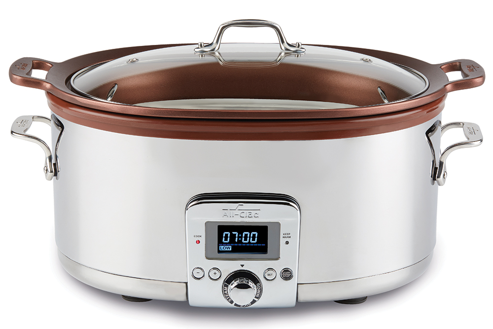 All-Clad 7-Qt Gourmet Slow Cooker with in-Pot Browning function