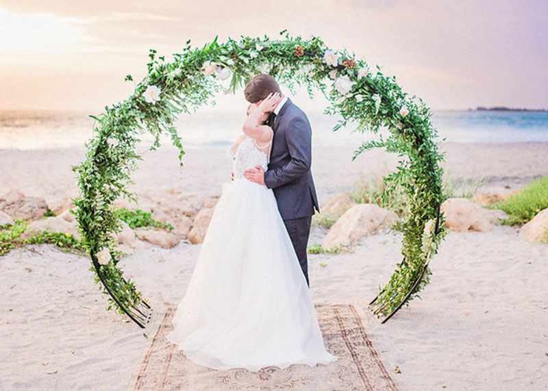 Couple with Floral Wreath