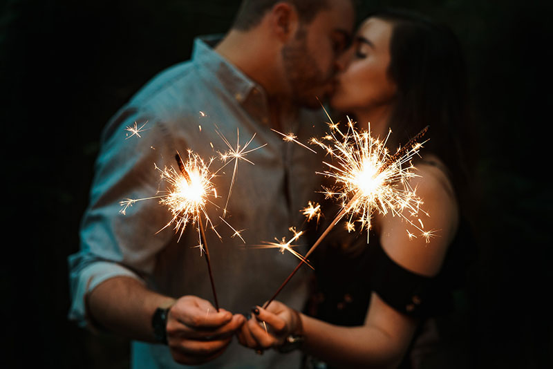 sparklers new years resolutions 2018