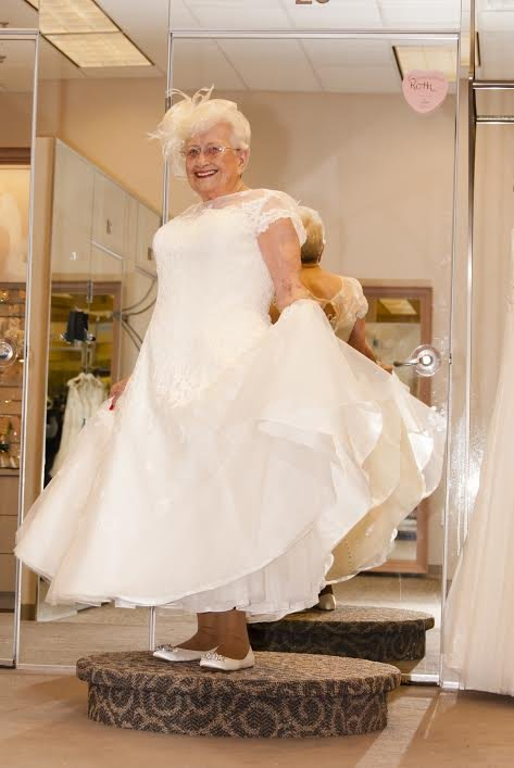 Always a bride 92 year old fulfills lifelong dream for Wedding dresses for 60 year old brides