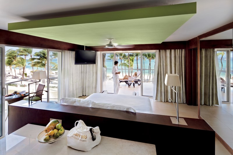 beachfront suite at Barcelo resort