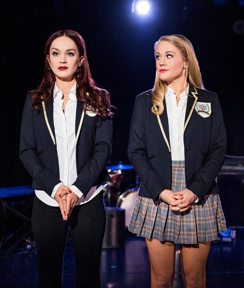 Lauren Zakrin as Kathryn and Carrie St. Louis as Annette in Cruel Intentions