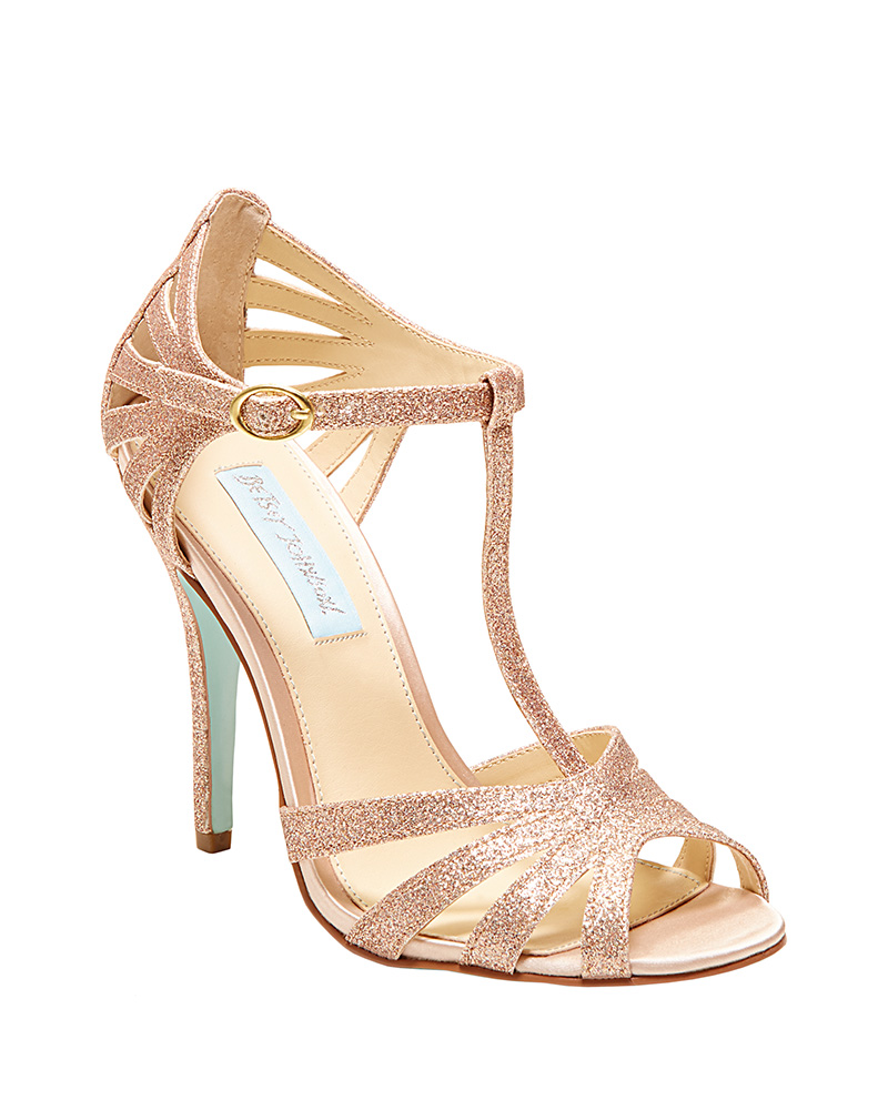 SB Tee stiletto gladiator wedding shoe by Betsey Johnson Blue