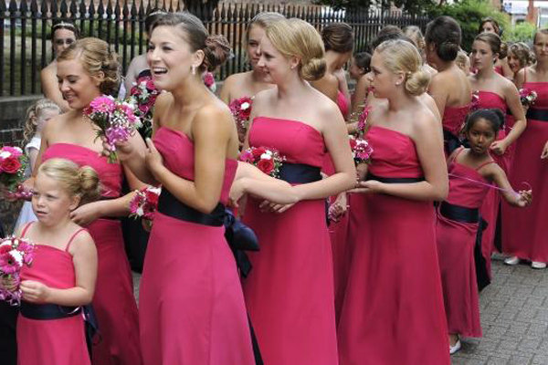 80 bridesmaids in london wedding