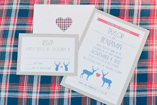 plaid invitations