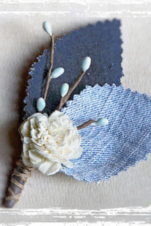 denim boutonniere