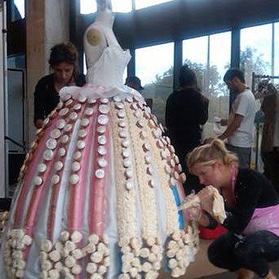 A Wedding Dress Made Of Cupcakes