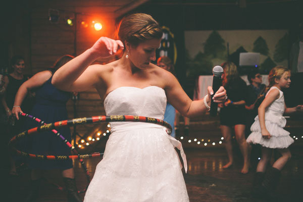 hula hooping bride