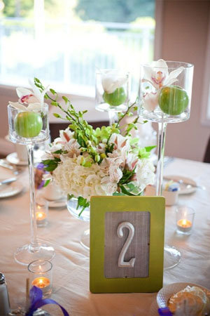 Elegant green and purple wedding 24