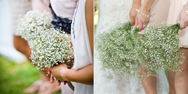 babys breath bridesmaids bouquets