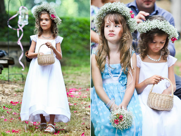 babys breath flower girls