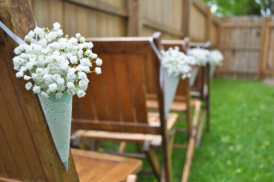 babys breath ceremony decor