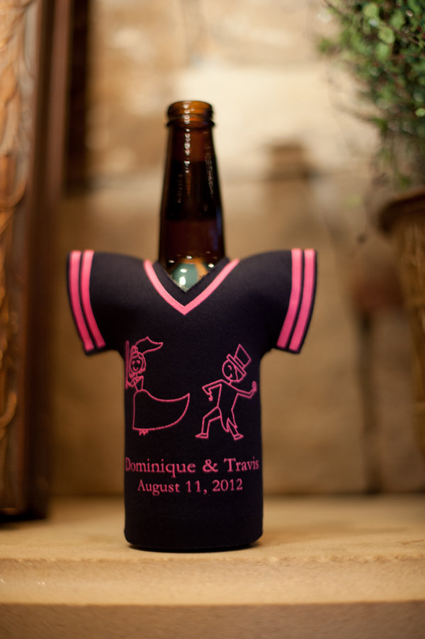 baseball theme beer koozies