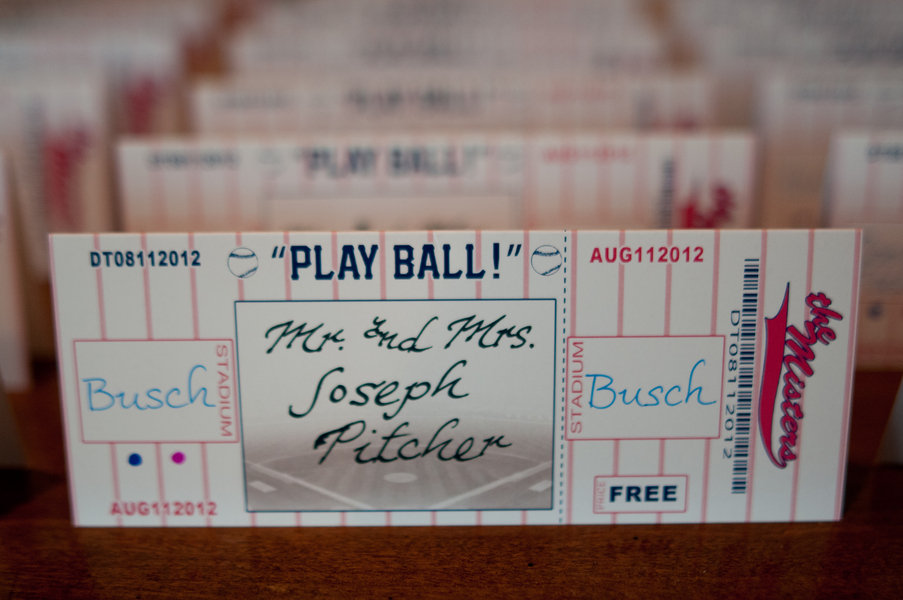 baseball escort cards