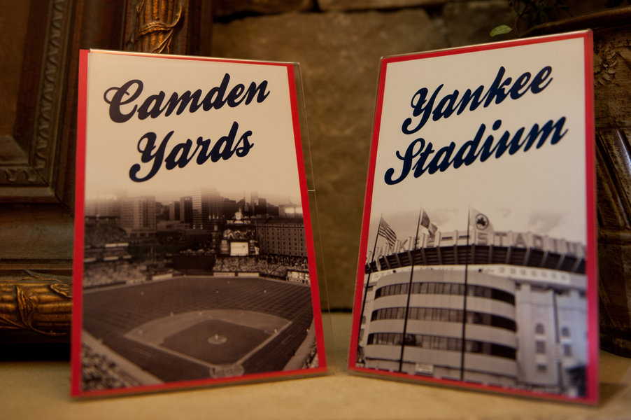 baseball theme table numbers