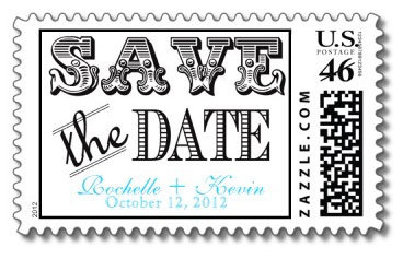 zazzle save the date stamp